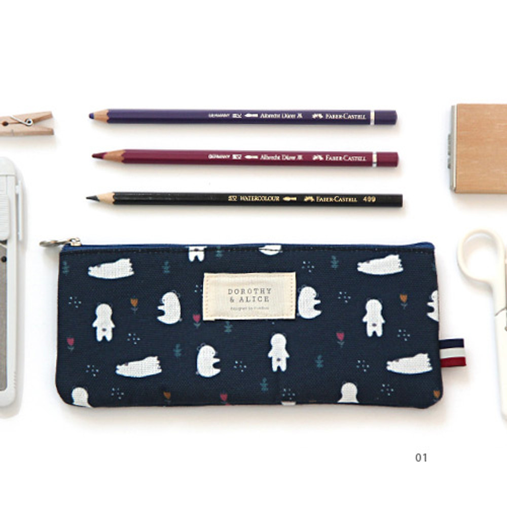 01 - Dorothy and Alice poly zipper pencil pouch