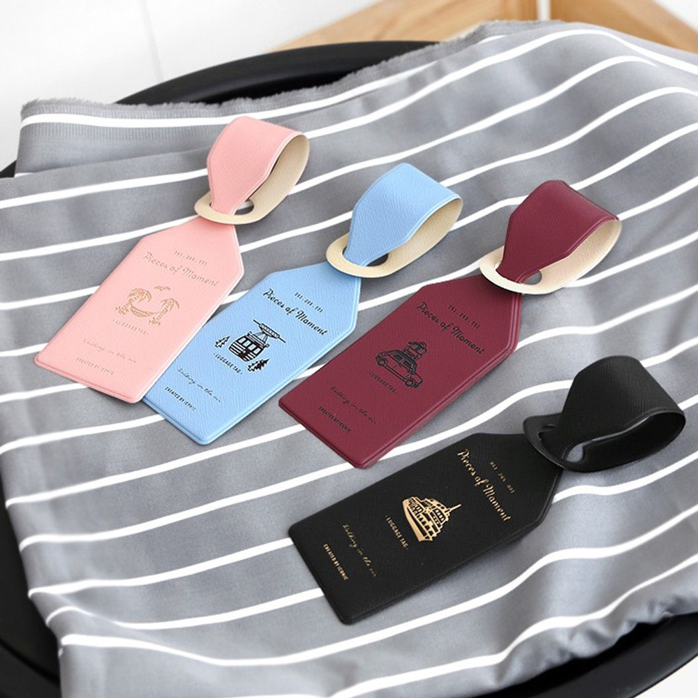 Piece of moment travel luggage name tag
