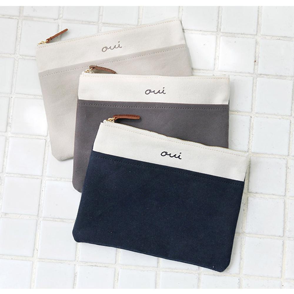 Around'D pocket zipper pouch