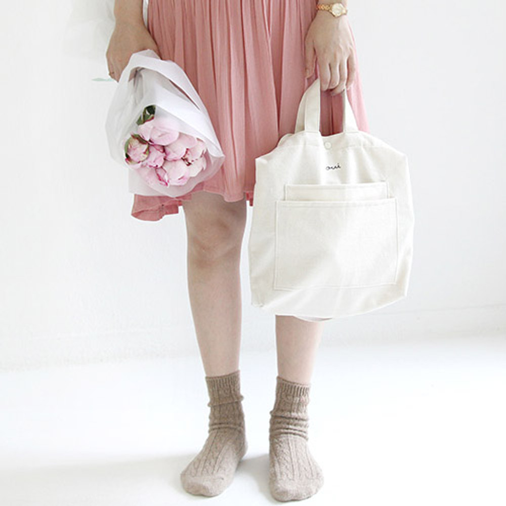 Ivory - Around'D two pocket bag - small