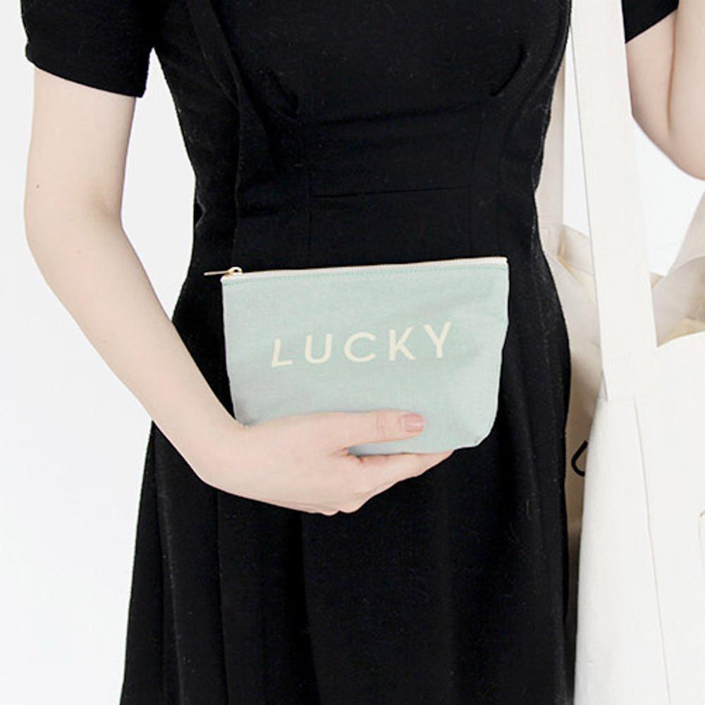 Mint - Around'D lucky zipper pouch