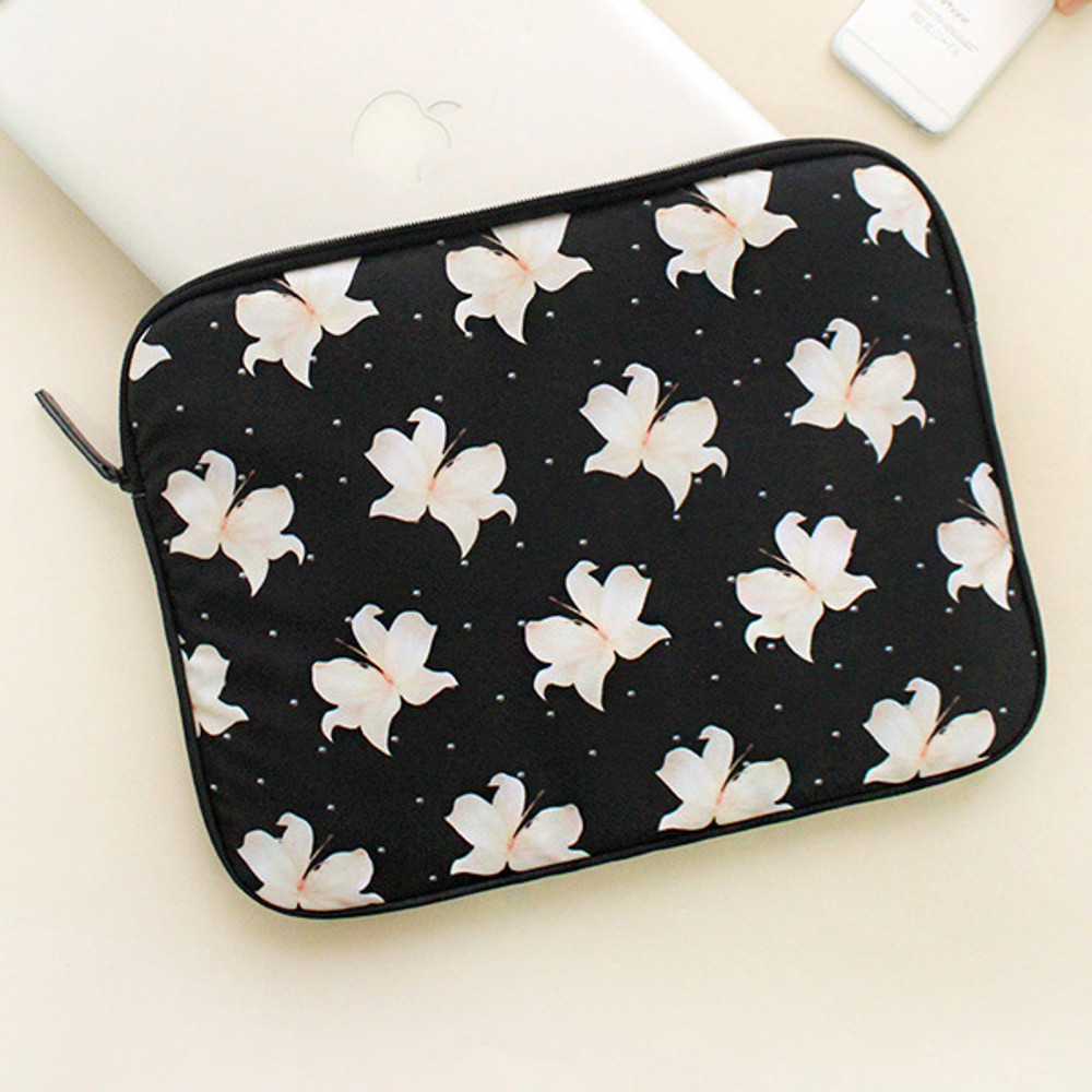 Lily - Rim pattern 13 inches laptop pouch case