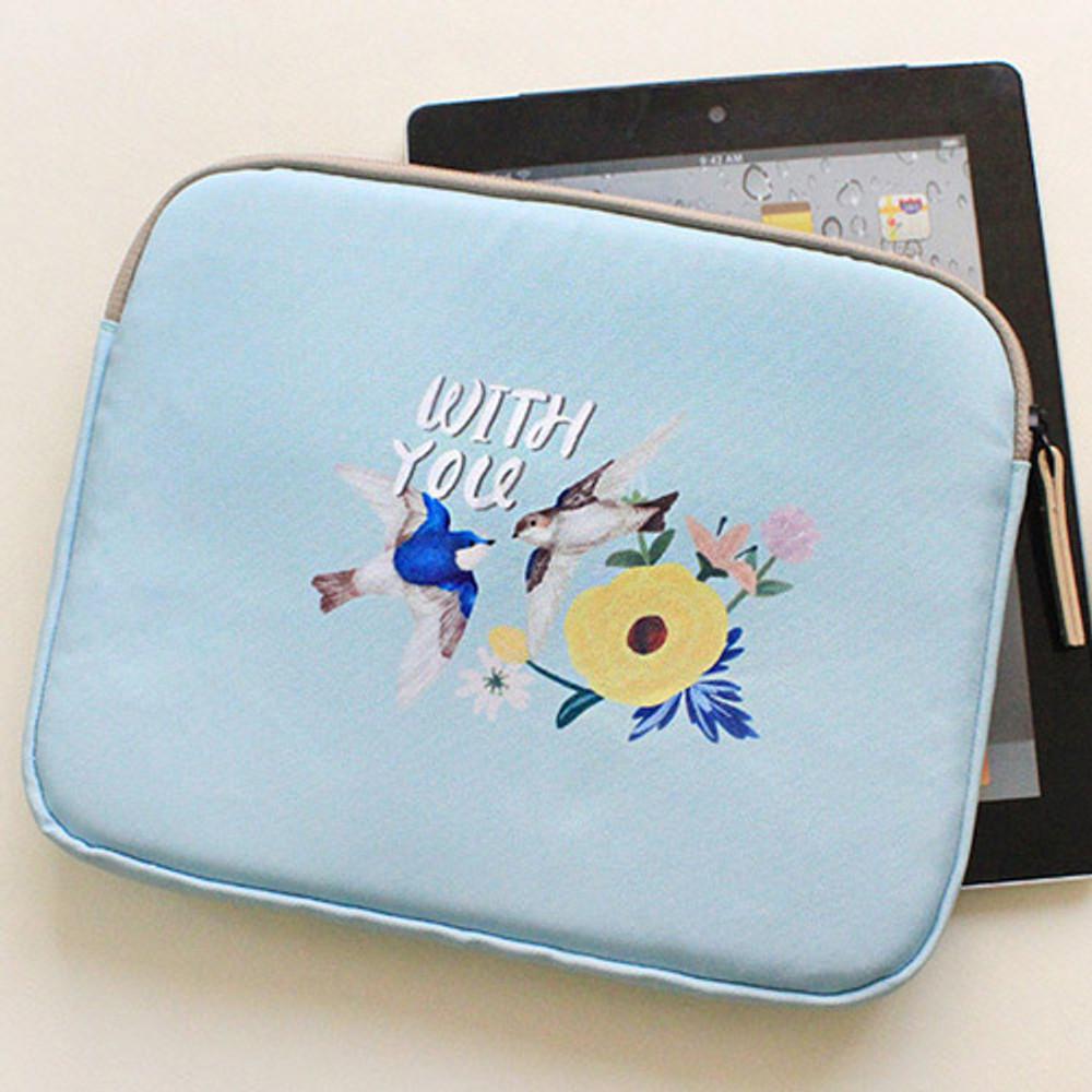 Mint - Rim pattern iPad multi pouch