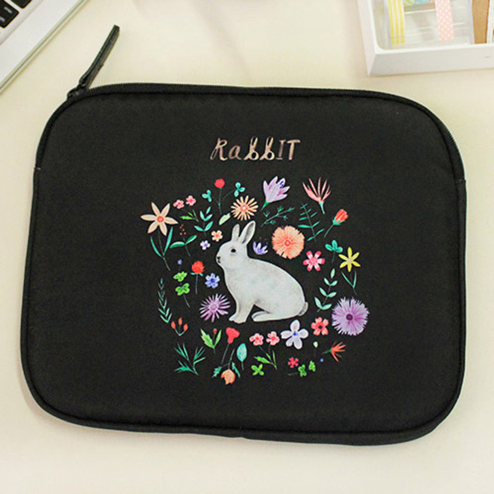 Rabbit - Rim pattern iPad multi pouch