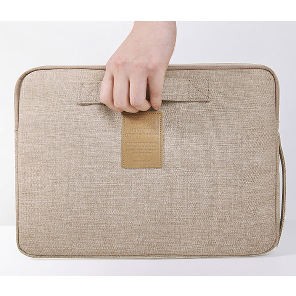 Beige - All in one organizer for laptop