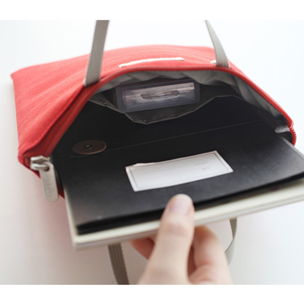 Red - Agenda docdo zipper tote bag