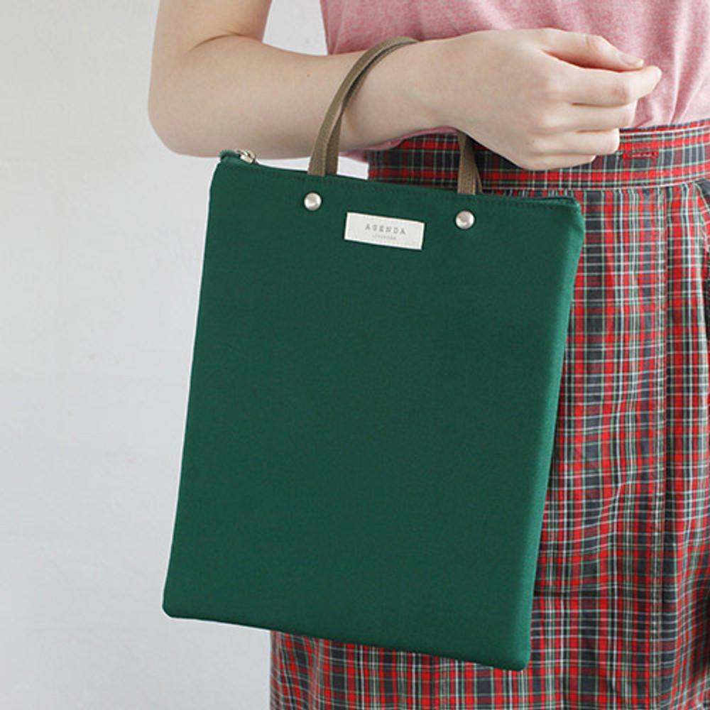 Green - Agenda docdo zipper tote bag