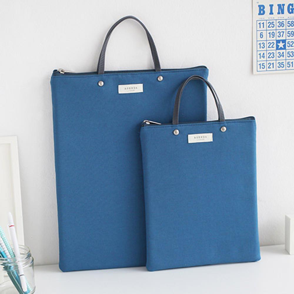 Blue - Agenda docdo zipper tote bag