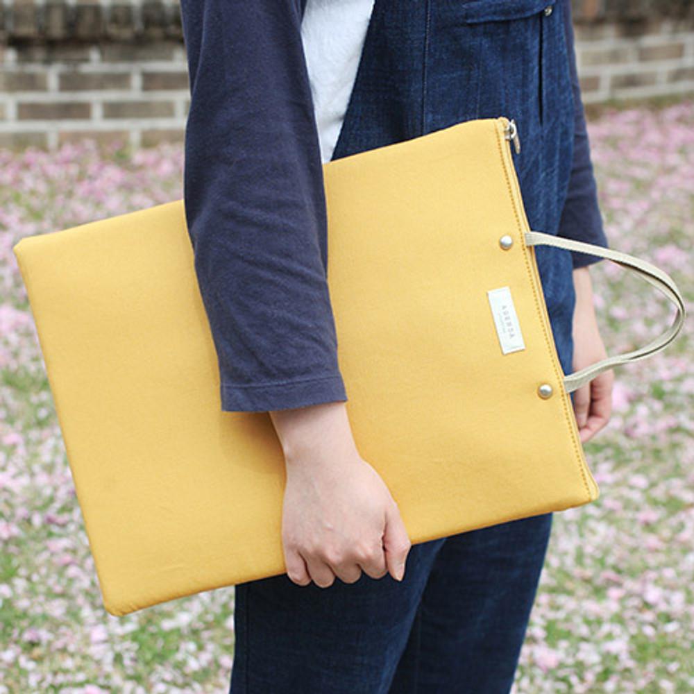 Mustard - Agenda docdo zipper tote bag