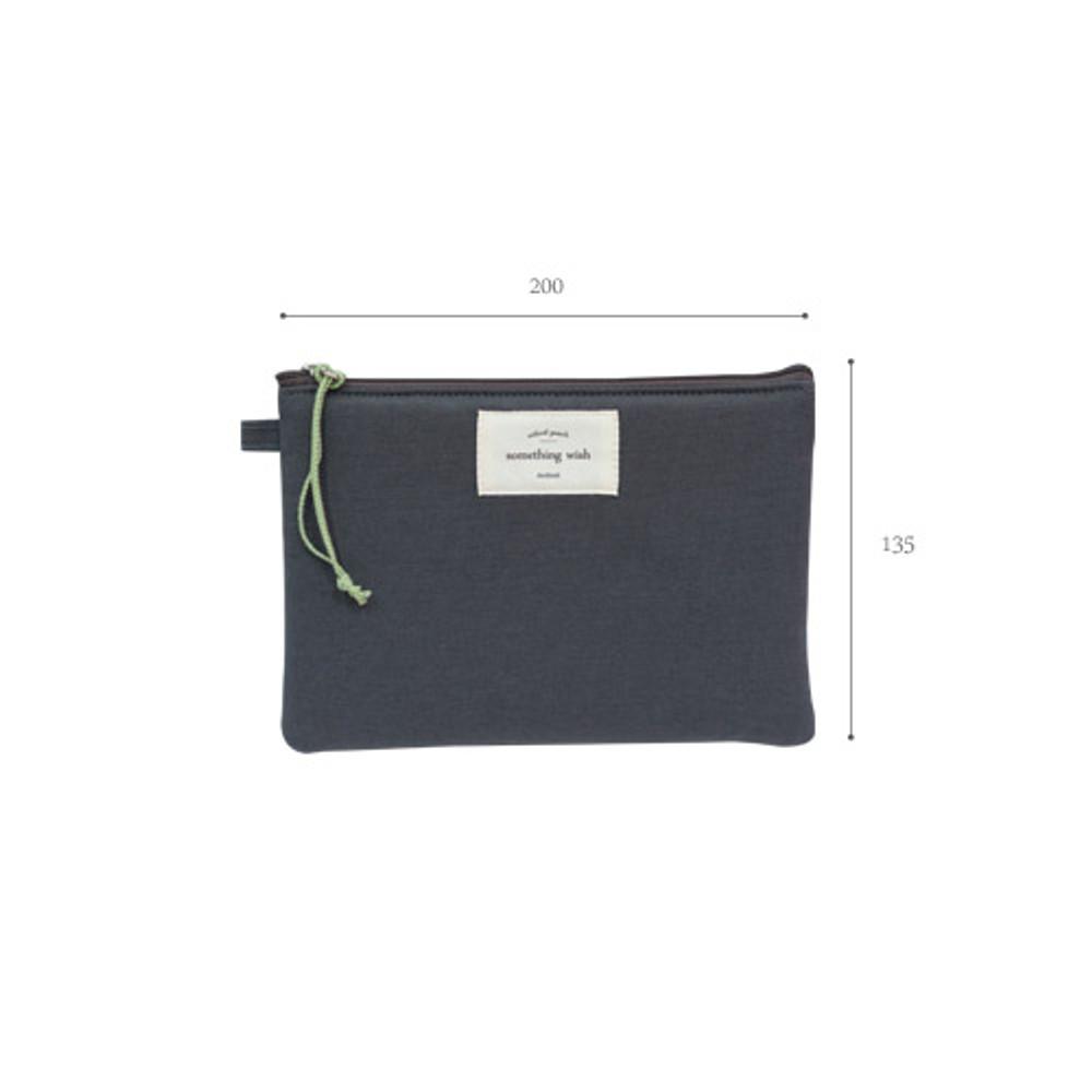 Size of Something wish oxford medium zipper pouch