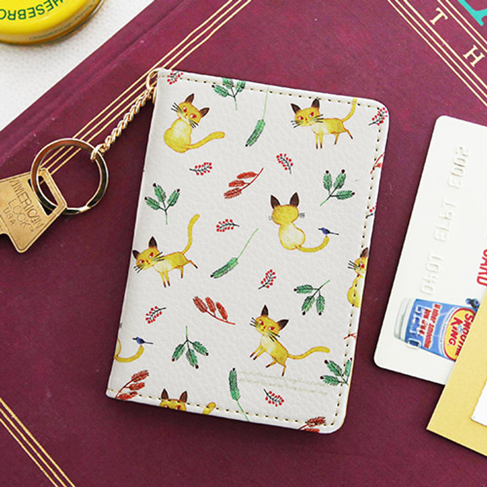 Yellow 2 - Willow story pattern snap button card case
