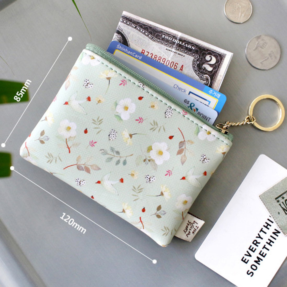 Size of Willow story pattern coin case wallet