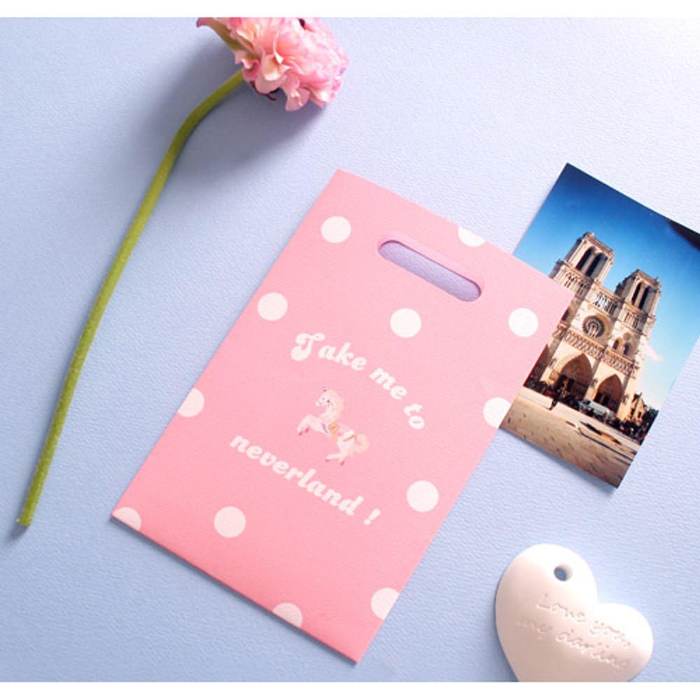 Pink - illustration paper bag set