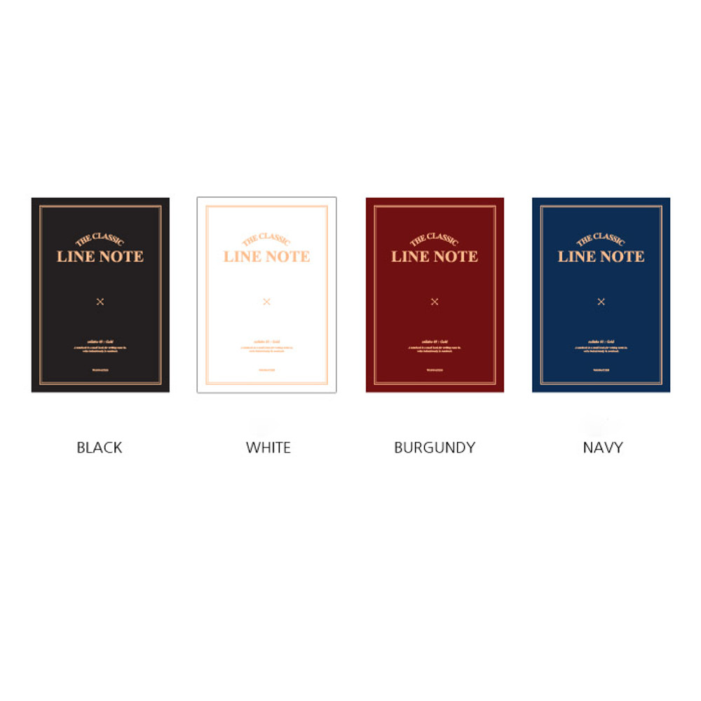 Colors of The classic lined notebook