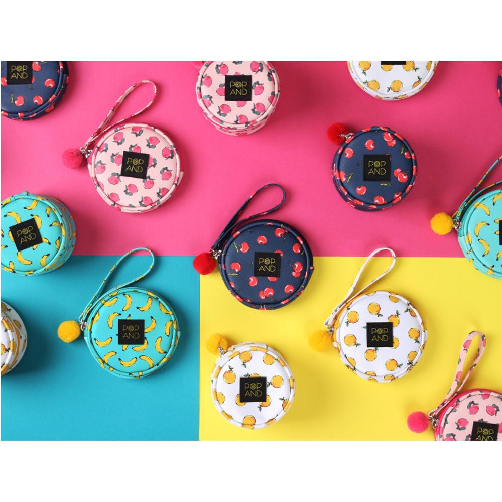 Pop art small tambourine round pouch