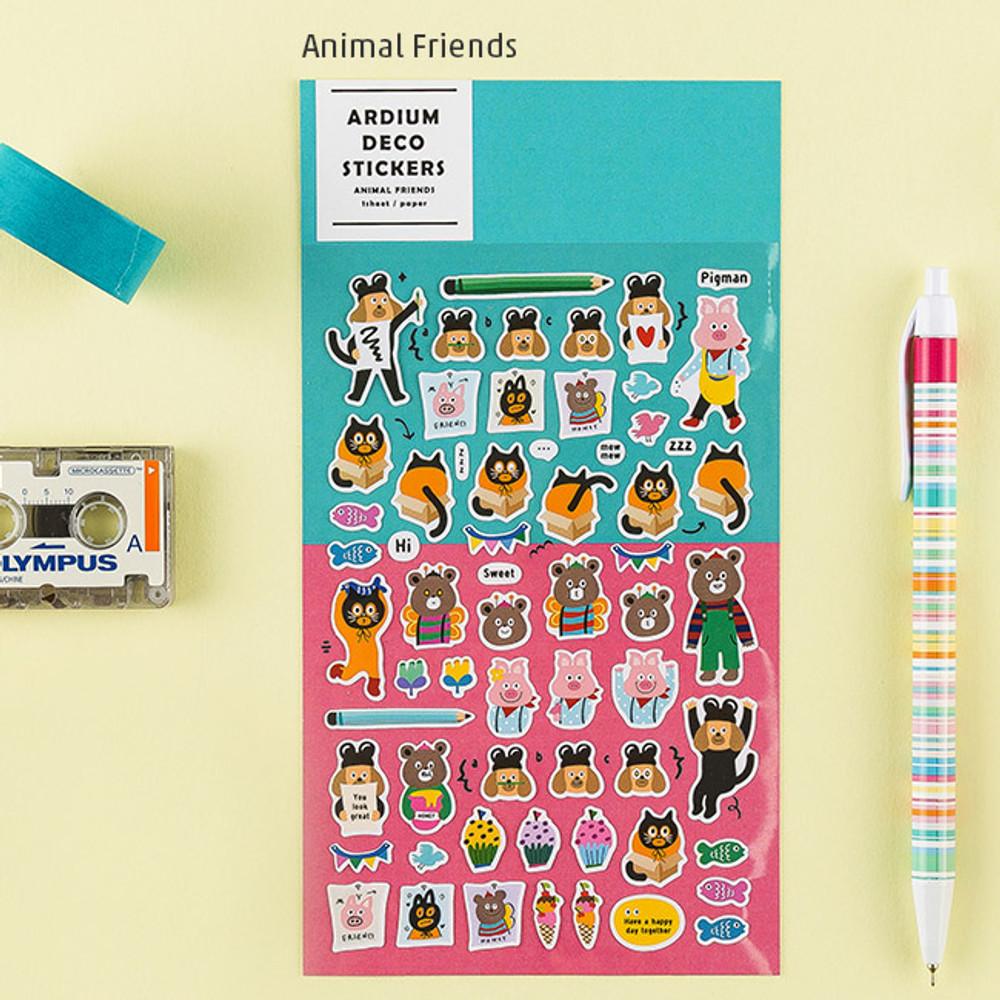 Animal friends - Colorful and unique deco sticker