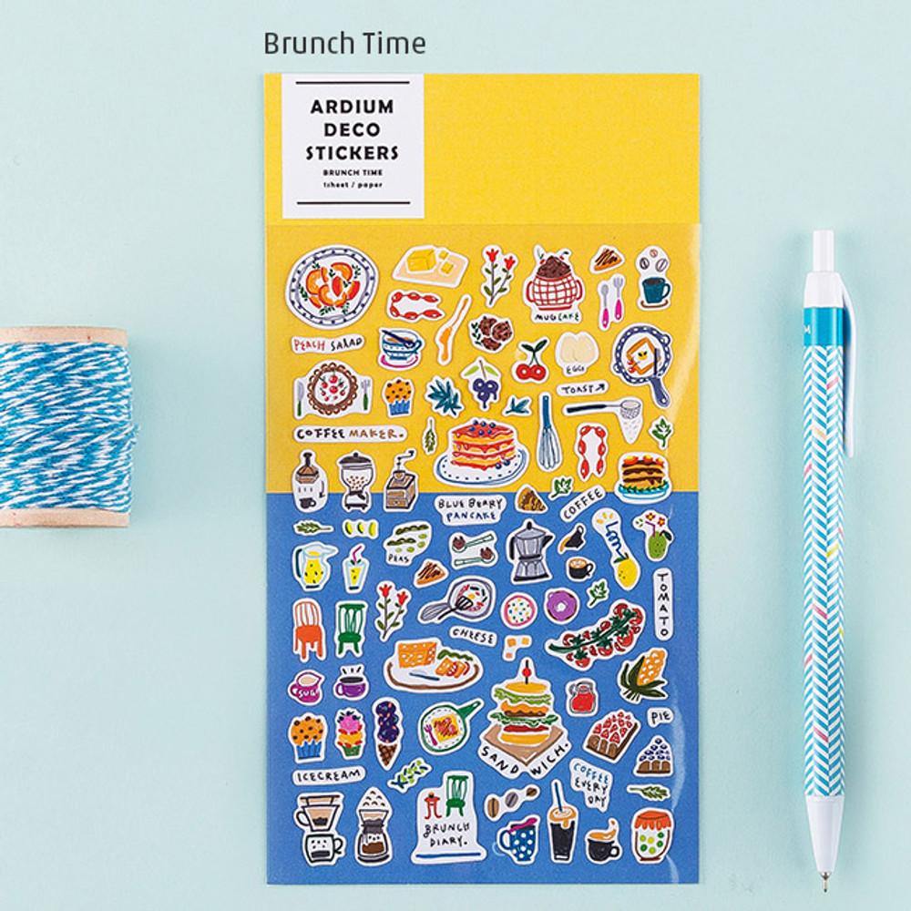 Brunch time - Colorful and unique deco sticker
