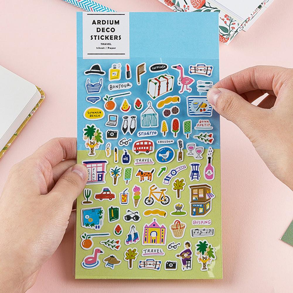 Colorful and unique deco sticker