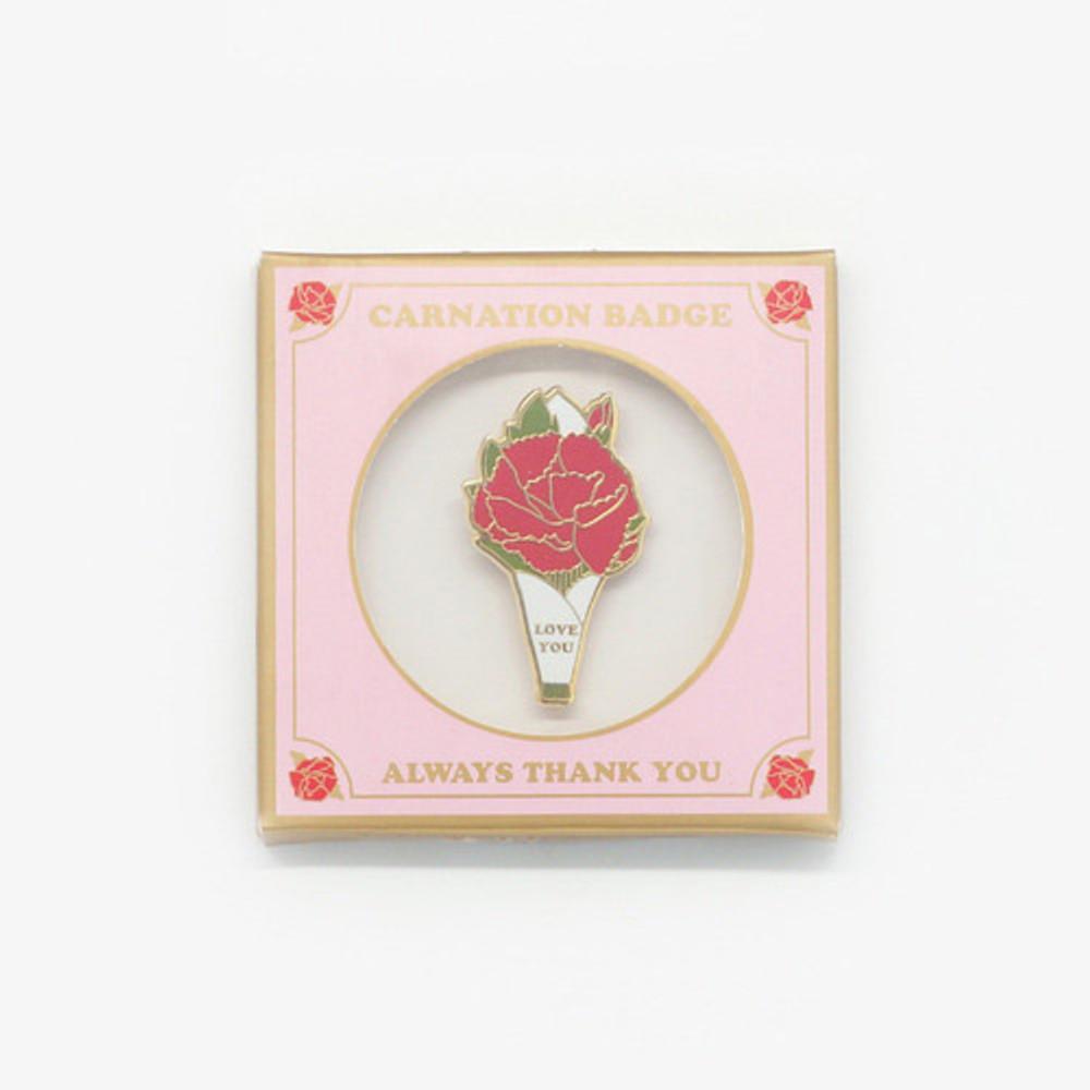Pink - Always thank you carnation badge