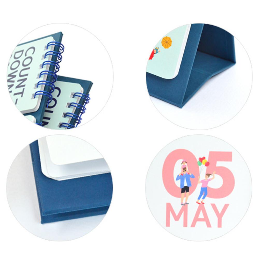 Detail of Doran doran flip perpetual desk calendar