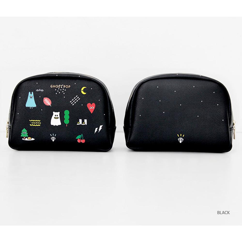 Black - Ghost pop boo medium pouch