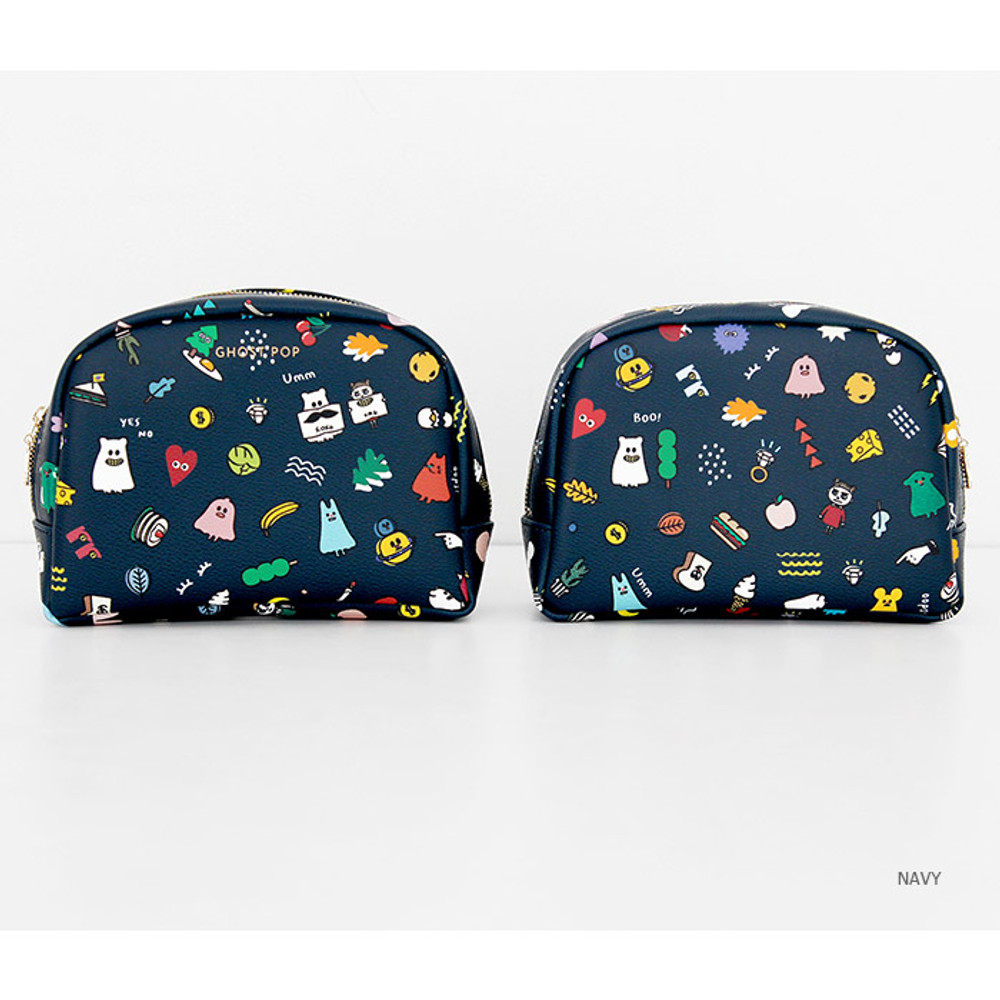 Navy - Ghost pop boo medium pouch