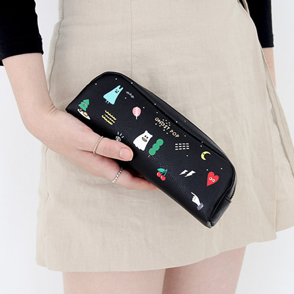 Black - Ghost pop boo small pouch