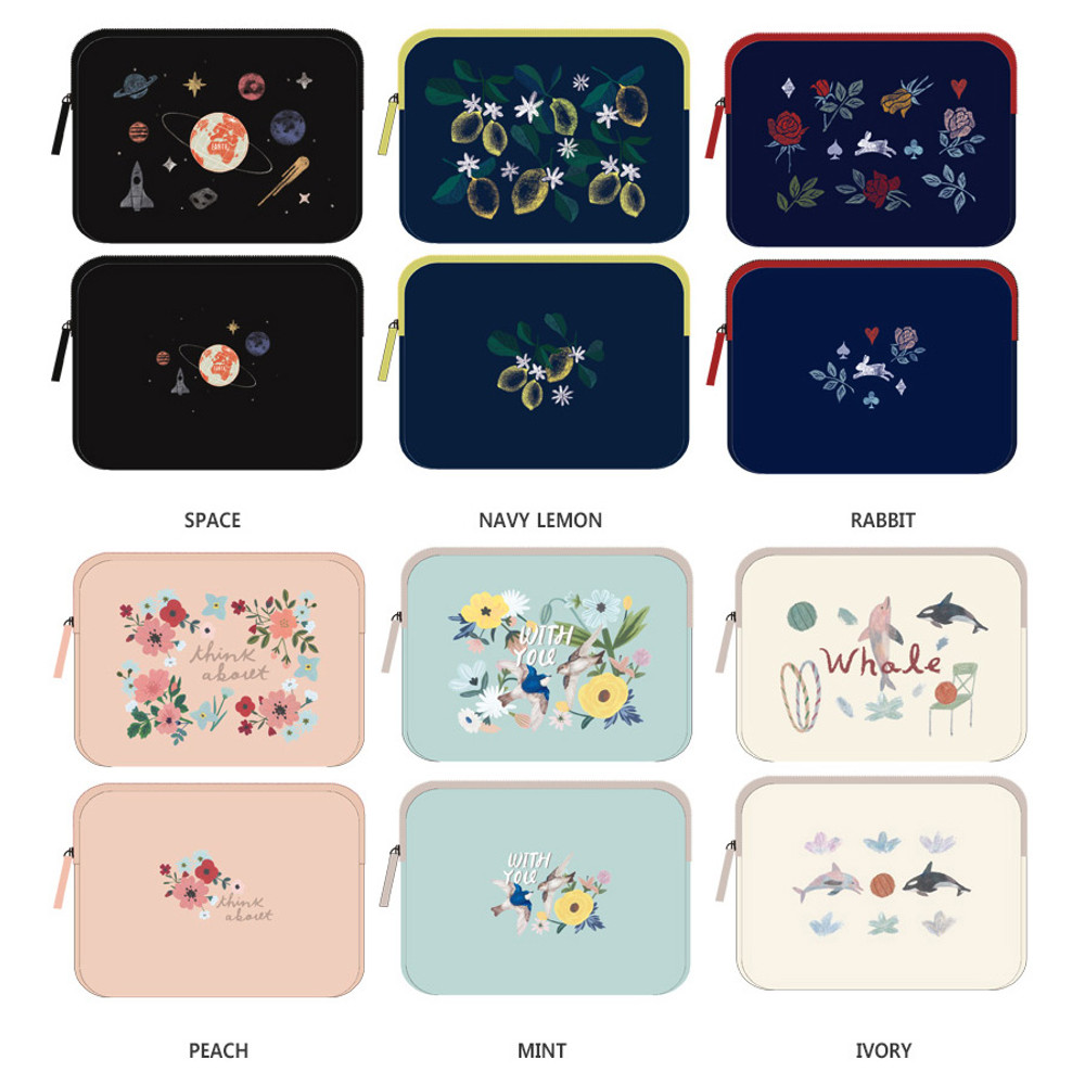 Rim pattern 15 inches laptop pouch case