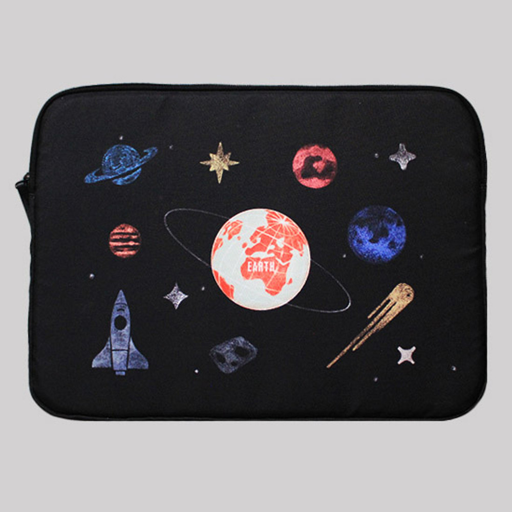 Space - Rim pattern 15 inches laptop pouch case