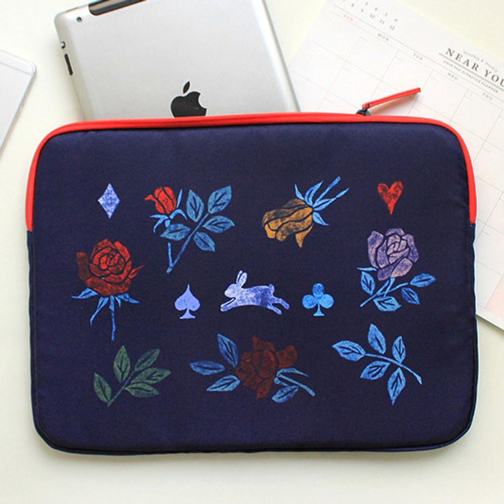 Rabbit - Rim pattern 15 inches laptop pouch case