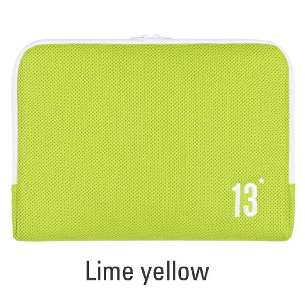 Lime yellow - Table talk 13 inches laptop air mesh pouch