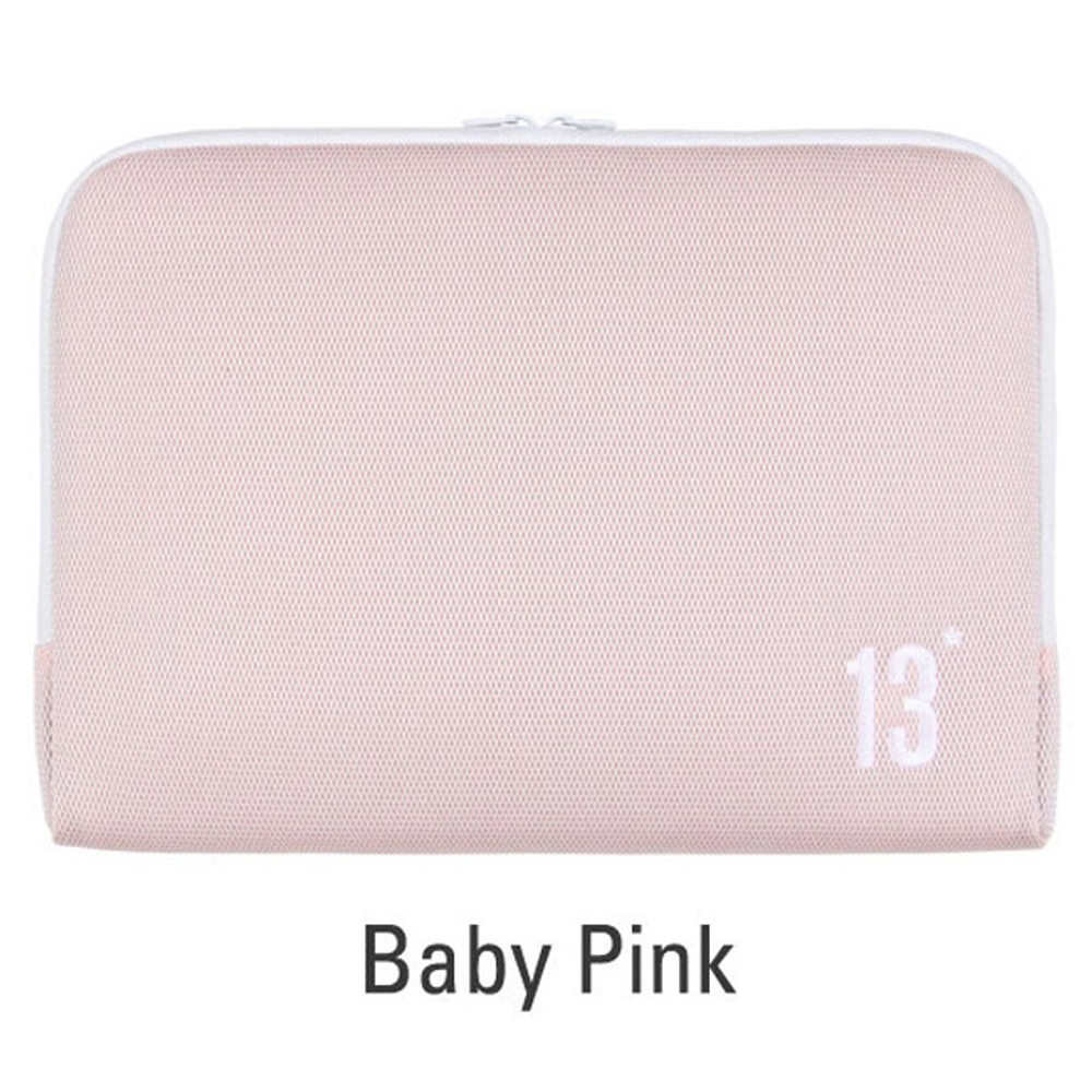 Baby pink - Table talk 13 inches laptop air mesh pouch