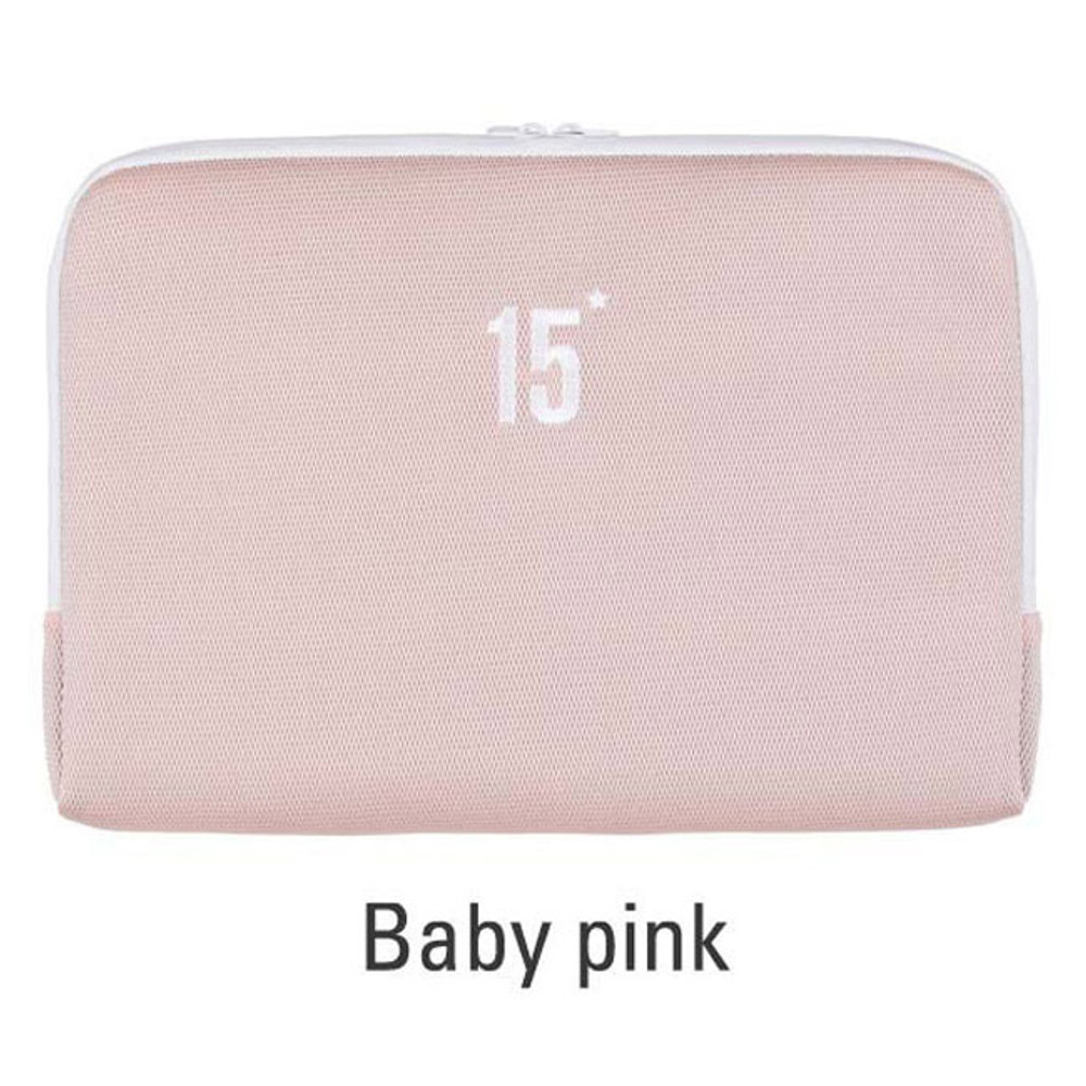 Baby pink - Table talk 15 inches laptop air mesh pouch