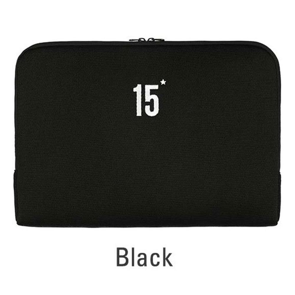 Black - Table talk 15 inches laptop air mesh pouch
