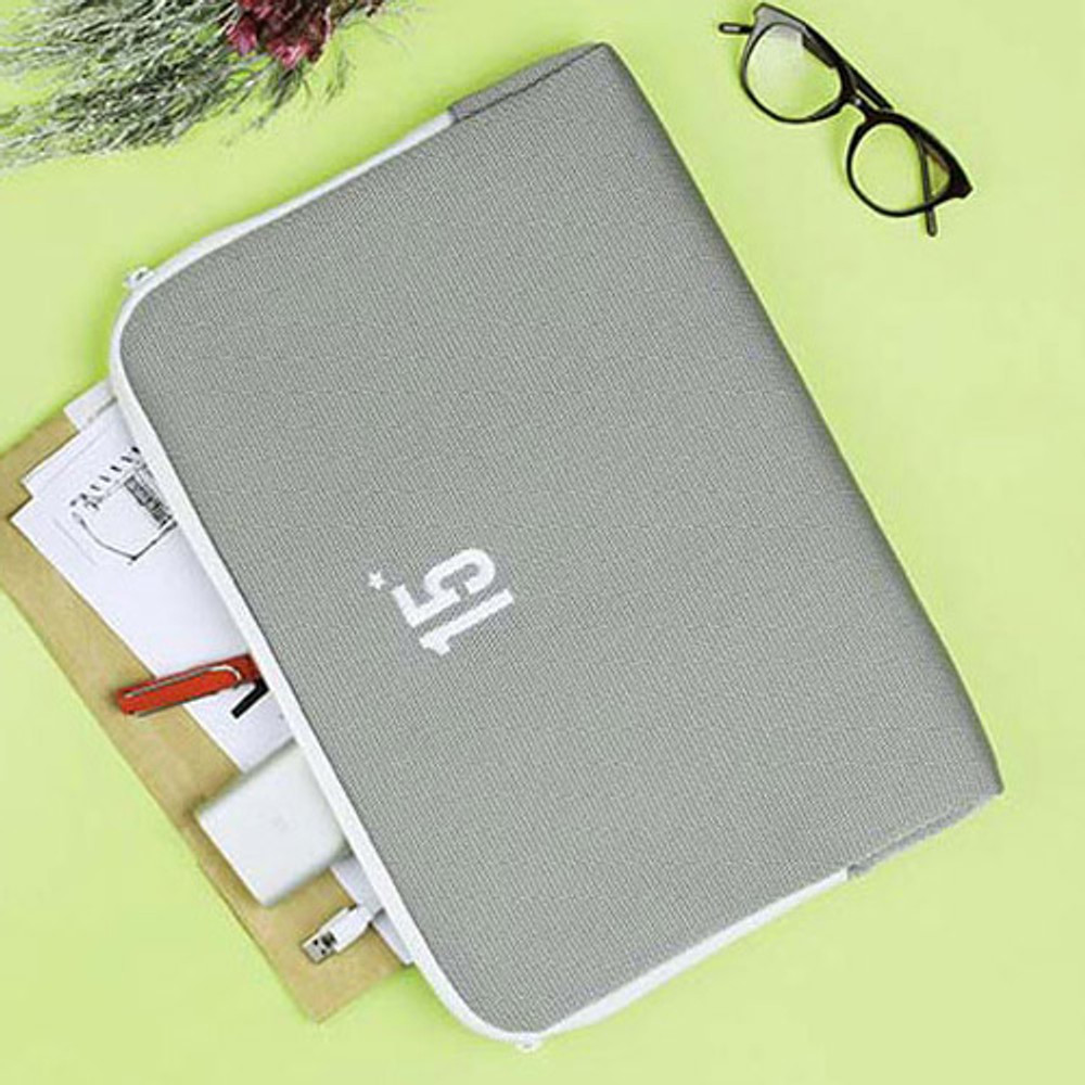 Light gray - Table talk 15 inches laptop air mesh pouch