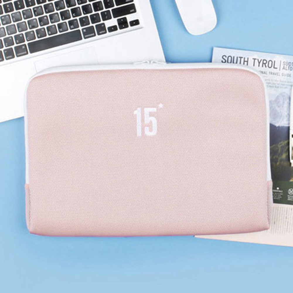 Light pink - Table talk 15 inches laptop air mesh pouch