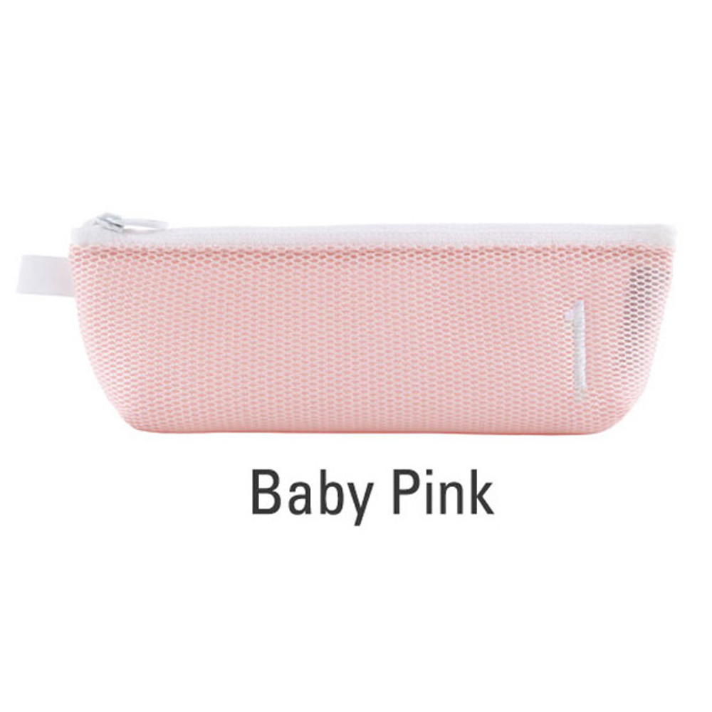 Baby pink - Table talk air mesh pencil case