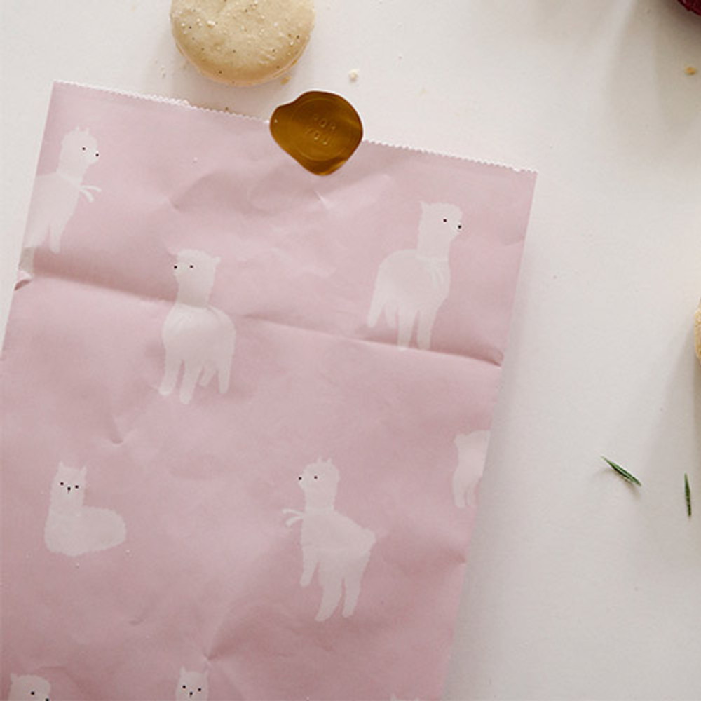 Alpaca - Animal pattern gift paper bag set