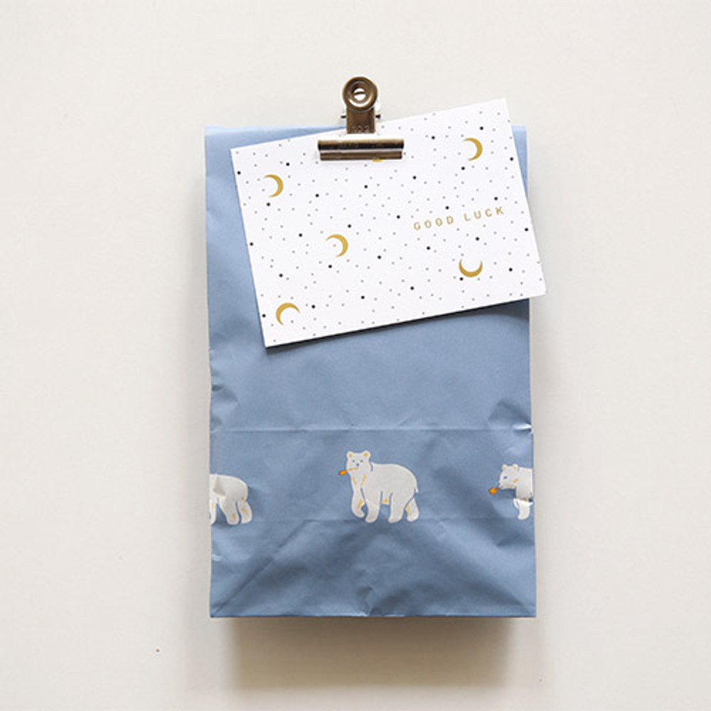 Friendly bear - Animal pattern gift paper bag set