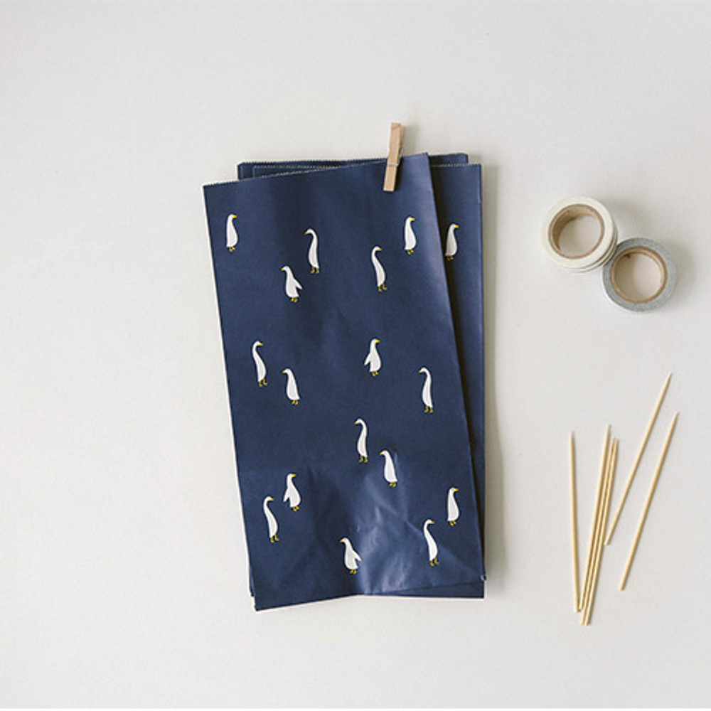 Goose - Animal pattern gift paper bag set