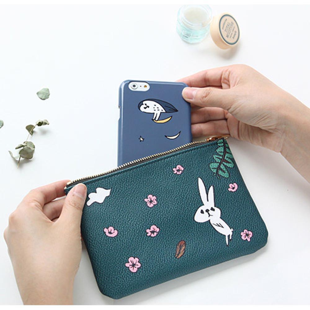 Flower rabbit - Jam Jam handy zipper pouch