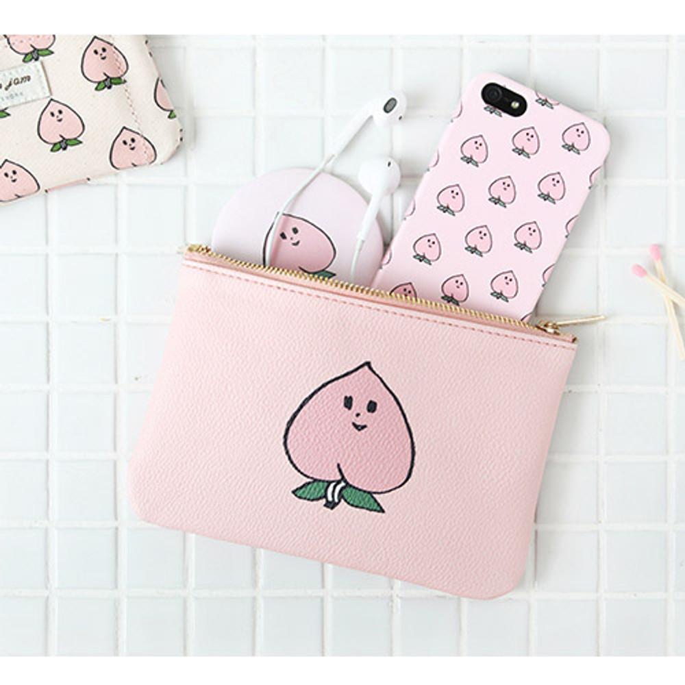 Peach - Jam Jam handy zipper pouch