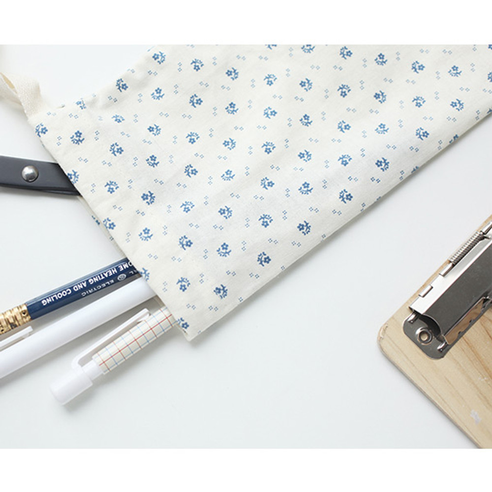 Snow bell - Warm breeze pattern drawstring pouch