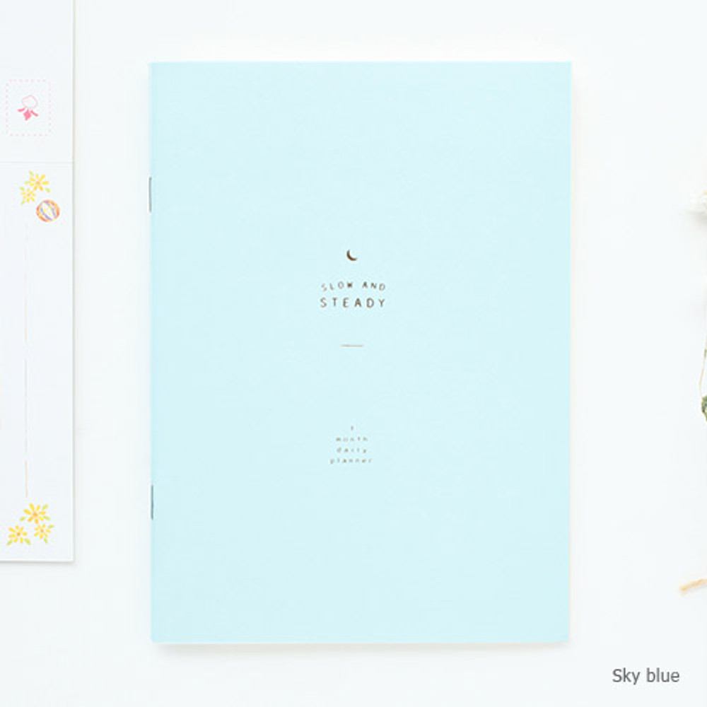 Sky blue - Slow and steady one month daily planner