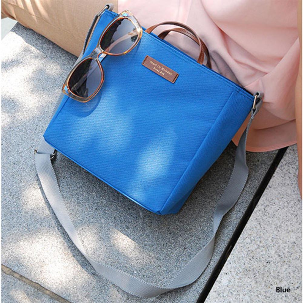 Blue - Holiday picks cross shoulder bag