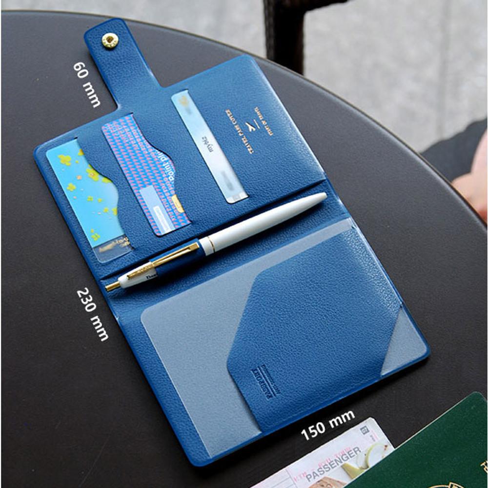 Size of Start of travel RFID blocking passport cover