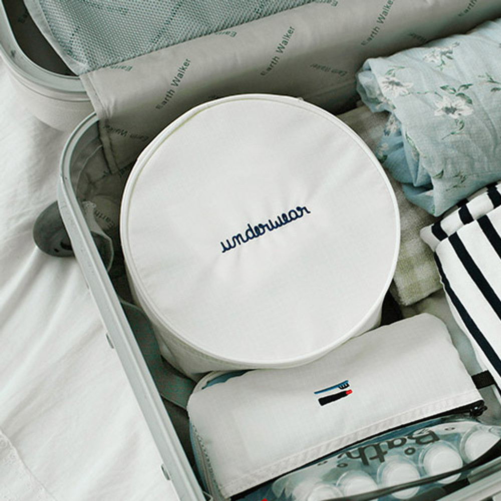 Off white - 2NUL Circle travel pouch