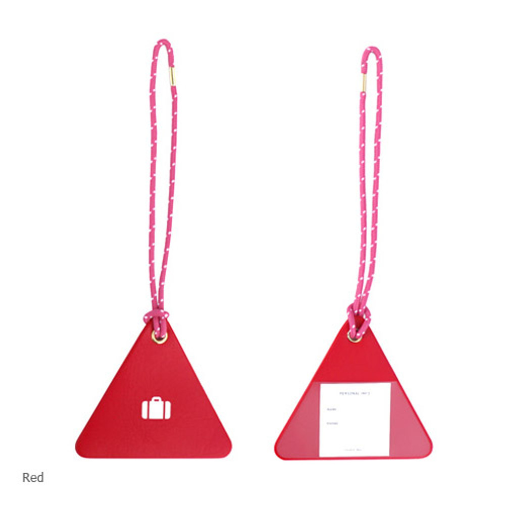 Red - 2NUL Travel shape luggage name tag