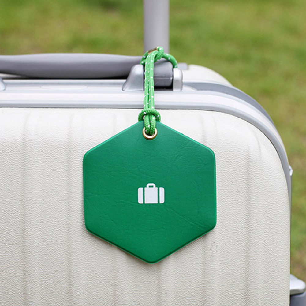 Green - 2NUL Travel shape luggage name tag