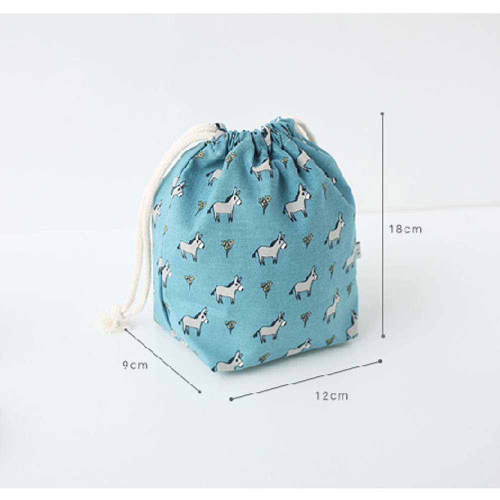 Size of Jam Jam pattern drawstring pouch